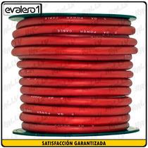 001 Cable Rally #0 Car Audio Sonido Planta Rojo Azul X Metro