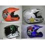 Cascos Motocross Y Bicicross, Skull, Monster Y Rockstar