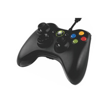 Control Para Xbox 360 Y Pc Alámbrico Negro