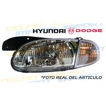 Faro Delantero Hyunday Accent Dodge Brisa Con Mica De Cruce