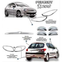 Set Kit Cromado Peugeot 206 El Mejor 11 Piezas Completo.
