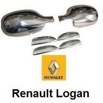 Kit Cromado Renault Logan Espejos Y Manillas