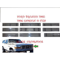 Ford-f150-bronco Rejillacromada-camisa-parrilla-camion-87-91