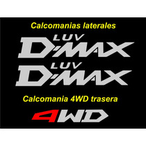 Kit De Tres Calcomanias Chevrolet Luv D-max