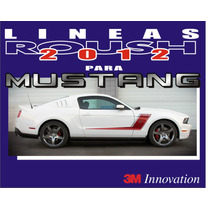 Lineas Calcomanias Roush Rs3 Para Mustang
