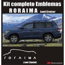 Kit Calcomanias Sticker Emblemas Toyota Roraima Land Cruiser
