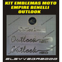 Kit Emblemas Para Moto Empire Benelli Outlook