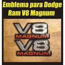 Kit De Emblemas Para Dodge Ram V8 Magnum