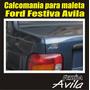 Calcomania Para Maleta Ford Festiva Avila
