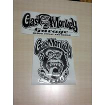 Calcomanias De Gas Monkey Garage Stickers 100% Calidad