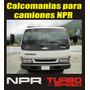 Calcomanias Para Camion Chevrolet Npr Turbo 6 Speed