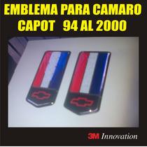 Emblema 3d (relieve) Capot De Chevrolet Camaro 94 Al 2000
