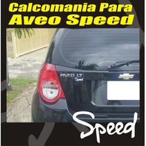 Calcomania Speed Para Chevrolet Aveo