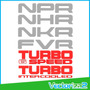 Calcomania Npr Nhr Nkr Fvr Turbo Speed Intercooled Isuzu