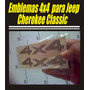Kit De Emblemas 4x4 Para Jeep Cherokee