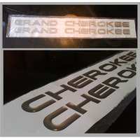 Kit Emblema Letras Relieve Jeep Grand Cherokee Precio X Par