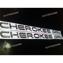 Emblema Relieve Para Jeep Cherokee Classic Puertas En Cromo