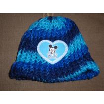 Gorro Azul Con Mickey Bebe