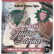 Set De Cuerdas Para Guitarra Electro-acusticas Famous 351