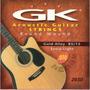 Set De Cuerdas Gk Guitarra Acusticas Metal Extra Light 010