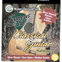 Set De Cuerdas Para Guitarra Clasica Famous 351 Tension Med