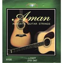 Cuerdas Aman Para Guitarras Eléctro-acusticas 010 -047 Light