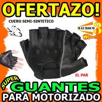 Wow Guantes Para Motorizado Cuero Semi-sintetico Moto Wow