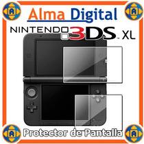 Lamina Protector Pantalla Nintendo 3dsxl Transparente + Paño
