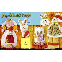 Patron Para Elaborar Juego De Cocina Conejos - Lenceria