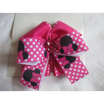 Lazo De Cinta Minnie Mouse Para Niña Hermoso Con Gancho