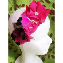 Lazos Para Niñas Cintillos Elasticos Con Rosas Y Flores