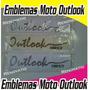 Emblema Outlook Empire Originales Cromo, Carbono Fluorecente