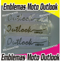 Emblema Outlook Empire Originales Cromo, Carbono Fluorecente