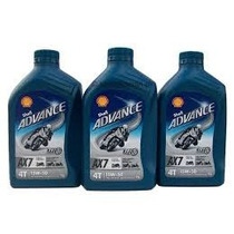 Aceite Shell Ax7 Advance 15w50 De 4 Tiempos (4t) Semisinteti