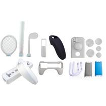 Combo Nintendo Wii 26 En 1 Volante Bate Raquetas Accesorios