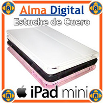 Estuche Cuero Ipad Mini Forro Protector Multiposición Apple