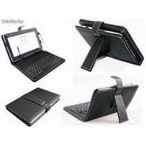Estuche Forro De Cuero Con Teclado Tablet 7 Micro Usb