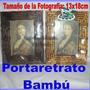 Portaretrato Simula Bambú Tamaño De La Foto 13x18cm 2colores