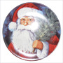 Platos Navideños 21cm/18cm Santa Nieve Trineo Gorro Navidad
