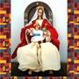 Virgen De La Coromoto Y La Sagrada Familia En Porcelana-tela