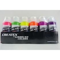 Set De Pinturas Para Aerografia Createx Colors Aerografo