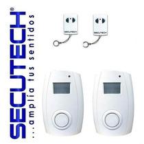 Alarma De Seguridad Inalambrica Secutech 2 Zonas 2 Controles