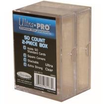 ( Geraval ) 2 Cajas Acrílicas Para 50 Barajitas Ultra Pro