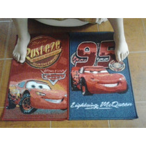 Alfombra Cars Disney 70x45cm Antirrebalante (envío Incluido)