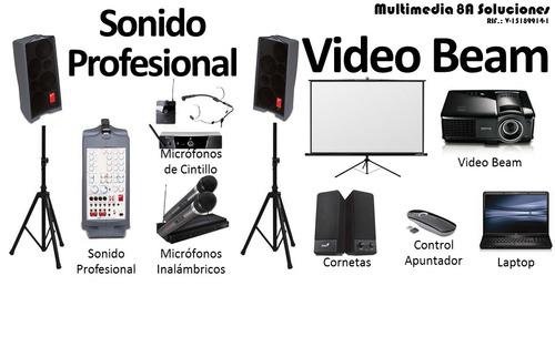 Alquiler De Video Beam, Laptop Y Sonido Profesional