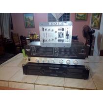 Amplificador Vlp 1500, Ecualizado Crossover Mixer Negociable