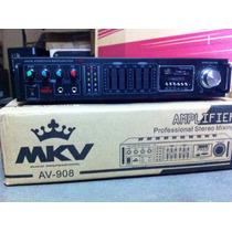 Planta Amplificador Mkv Av-908 Usb Sd Aux Microfono Sonido