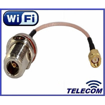 Cable Pigtail Adaptador Wifi N Hembra - Rp-sma Macho!!!