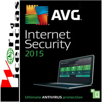 Avg Internet Security 2015 Licencia Original 3 Año X 1 Pc