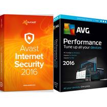 Antivirus Avast Internet Segurity 3pc 2años + Avg Pc Tune Up